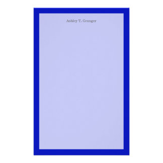 Solid Color: Royal Blue Stationery