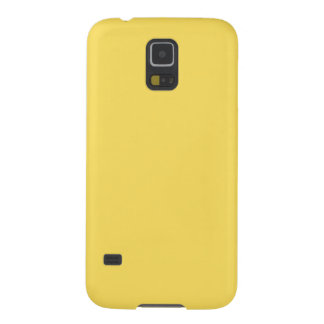 Solid Color Samsung Galaxy S5 Case in Lemon Zest