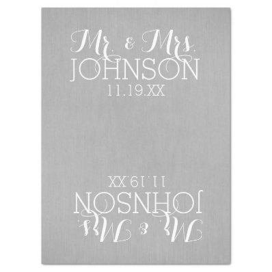 """Solid Color Silver - Mr & Mrs Wedding Favors 17"""" X 23"""" Tissue Paper"""