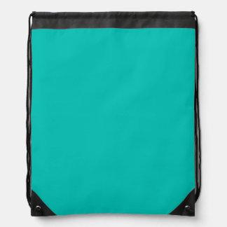 Solid Color: Teal Drawstring Backpacks