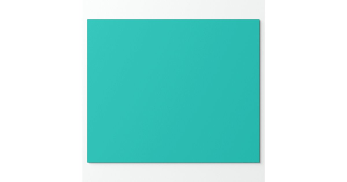 Solid Color: Teal Wrapping Paper | Zazzle