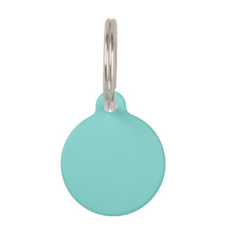 Solid Color: Turquoise Aqua Pet Nametags