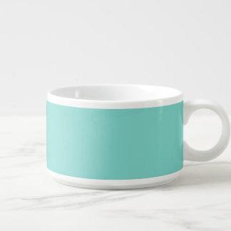 Solid Color Turquoise Aqua Chili Bowl
