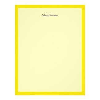 Solid Color: Yellow Letterhead