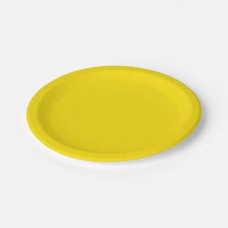 Solid Color: Yellow 7 Inch Paper Plate