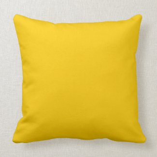Solid Colored,Yellow Throw Pillow