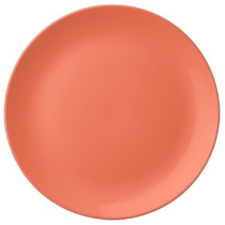 Solid Coral Dinner Plate