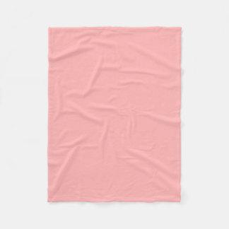 Solid coral pink fleece blanket