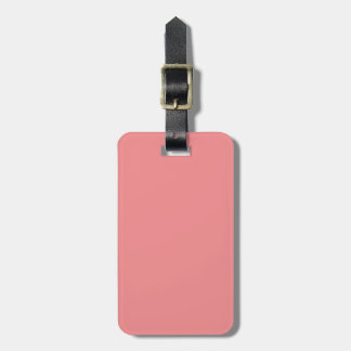 Solid Coral Pink Pop of Color Luggage Tag