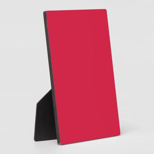 Solid Crimson Display Plaque