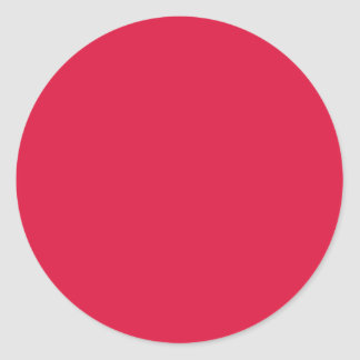 Solid Crimson Sticker