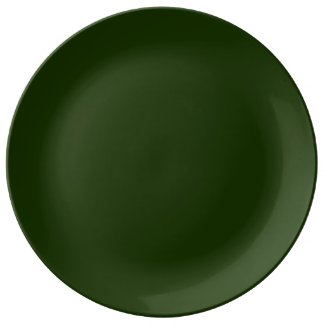 Solid Dark Green Dinner Plate