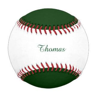Solid DARK GREEN Baseball