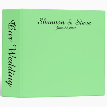 Solid Dark Mint Green 3 Ring Binder