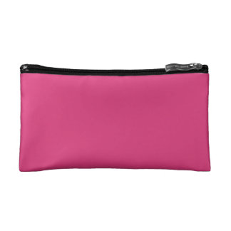 Solid Dark Pink Cosmetic Bags