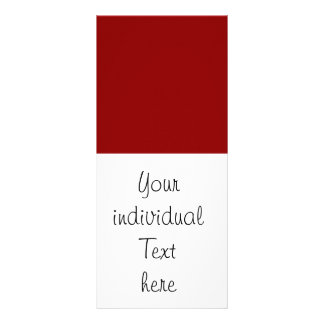 Solid dark RED Personalized Rack Card