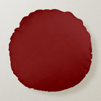 Solid Deep Red Pop of Color Round Pillow