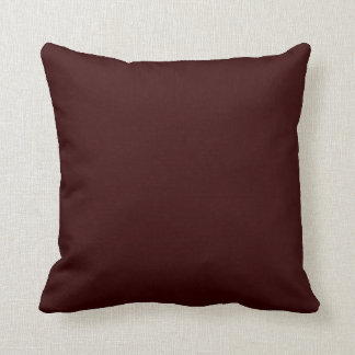 Solid Deep Rich Brown Pop of Color Pillow