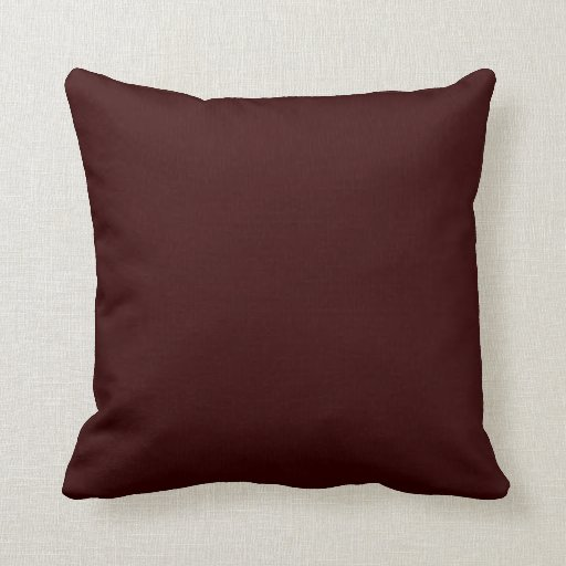 Solid Deep Rich Brown Pop of Color Throw Pillow