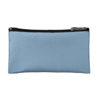 Solid Dusk Blue Makeup Bag
