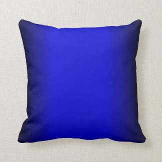 Solid Electric Blue Throw Pillow