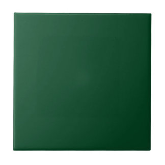 Solid Evergreen Green Ceramic Tile