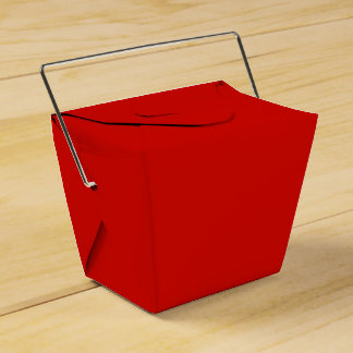 Solid Fire Engine Red Favor Box