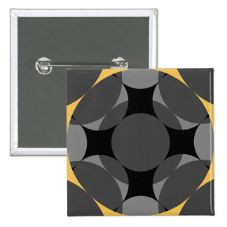 Solid Four Star Circle Cross 2 Inch Square Button