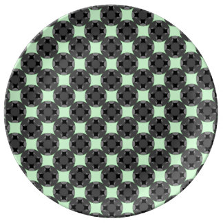 Solid Four Star Circle Cross by Kenneth Yoncich Dinner Plate