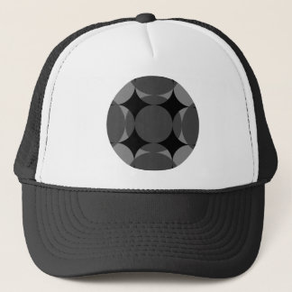 Solid Four Star Circle Cross by Kenneth Yoncich Trucker Hat