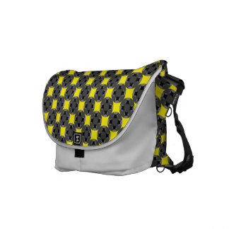 Solid Four Star Circle Cross Messenger Bag