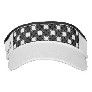 Solid Four Star Circle Cross Visor