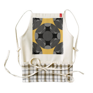 Solid Four Star Circle Cross Zazzle HEART Apron