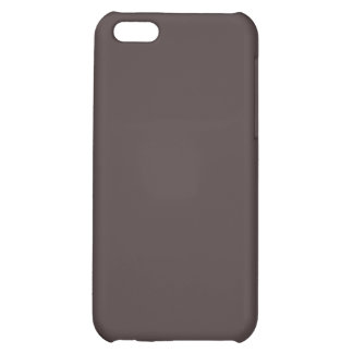 Solid French Roast Brown iPhone 5C Cases