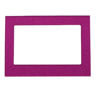 Solid Fuchsia Knit Stockinette Stitch Pattern Magnetic Frame