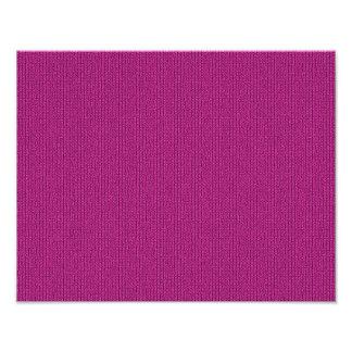 Solid Fuchsia Knit Stockinette Stitch Pattern Photo Print