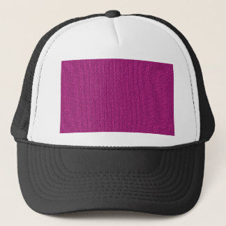 Solid Fuchsia Knit Stockinette Stitch Pattern Trucker Hat