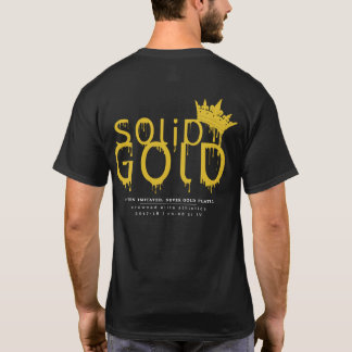 SOLID GOLD: 17-18 Official logo on black T-Shirt