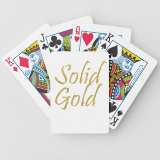 Solid Gold Bicycle Playing Cards