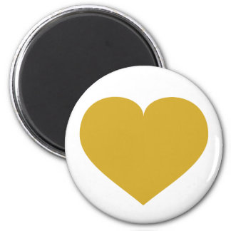 Solid gold heart magnet