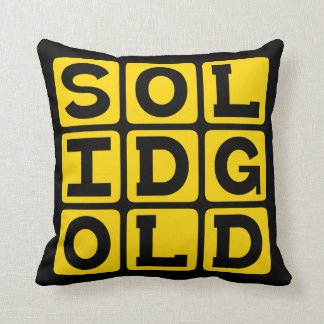 Solid Gold Internet Meme Pillows