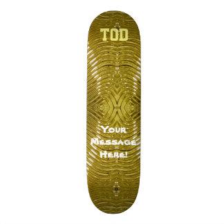 Solid Gold Skateboard Deck