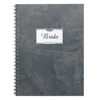 Solid Gray Bride Notebook