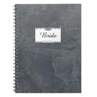 Solid Gray Bride Notebook