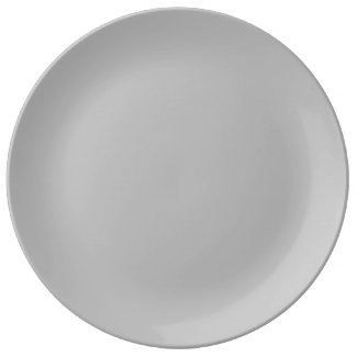 Solid Gray Dinner Plate