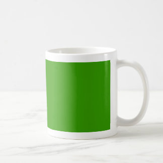 Solid Green Background Color 339900 Classic White Coffee Mug
