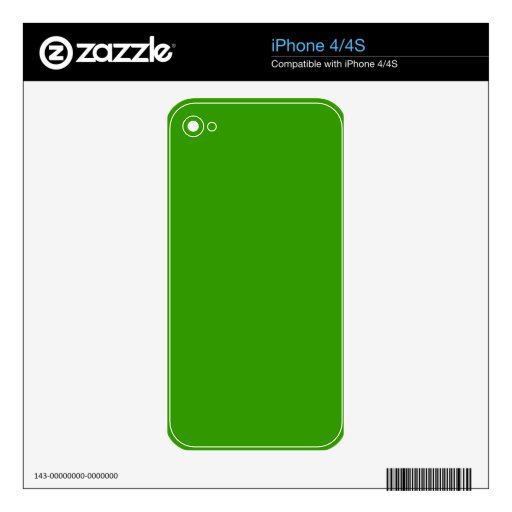 Solid Green Background Color 339900 iPhone 4S Skin