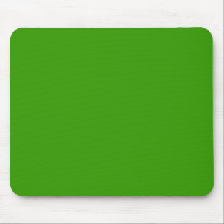 Solid Green Background Color 339900 Mouse Pad