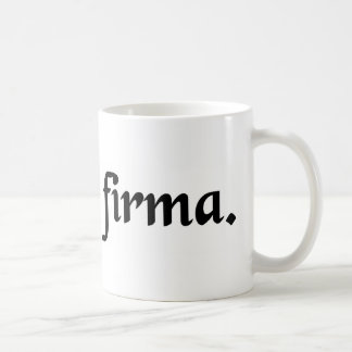 Solid ground. classic white coffee mug