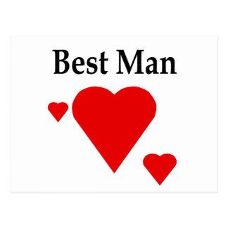 Solid Hearts Best Man Postcard